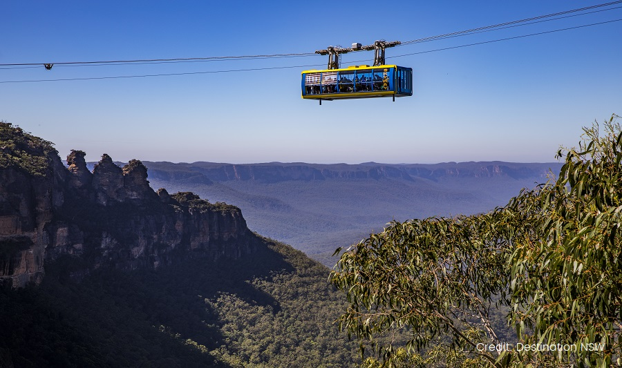 Cableway in Scenic World