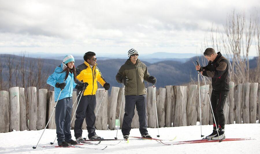 Skiing at Lake Mountain