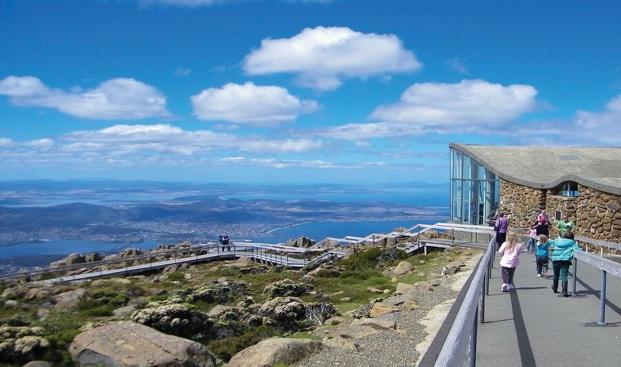 View of Hobart city from Mt Wellington