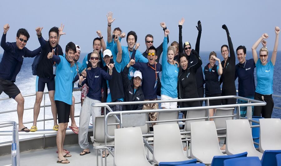 Fun time on the Great Barrier Reef