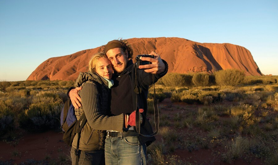 Couple at Uluru