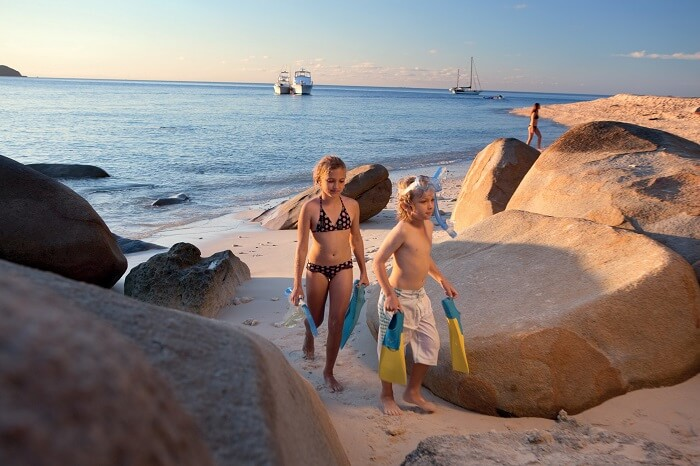 Kids snorkelling