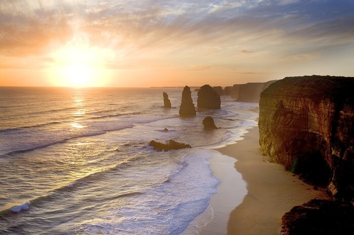 The Twelve Apostles at sunset