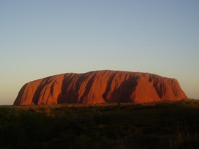 Uluru from far