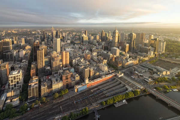 Melbourne Viewing from the Sky