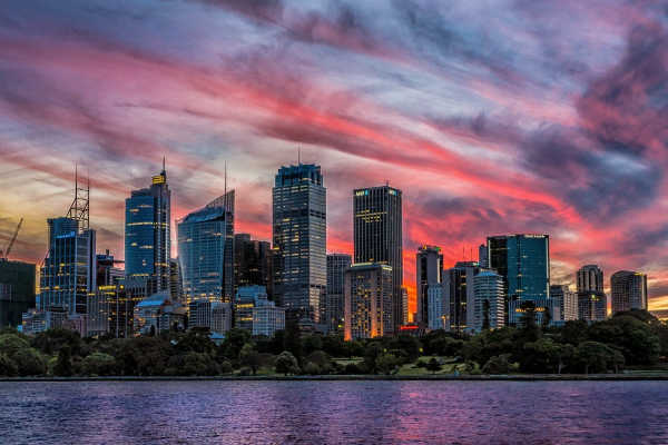 Sydney Skyline Sunset