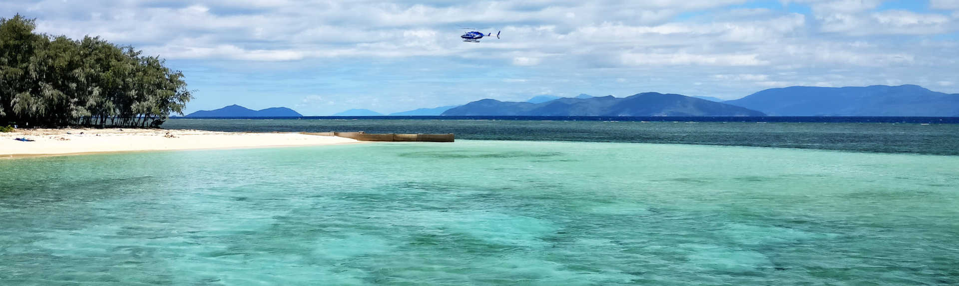 How far out is the Great Barrier Reef?
